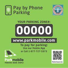 Parkmobile QR code sticker a good practical use