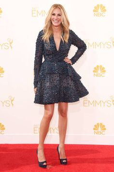 Julia Roberts stuns in Elie Saab on the Emmy's red carpet.