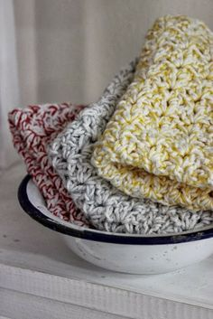 Free chart for rustic dishcloths/washcloths by luli