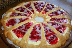 Cherry cheese coffee cake