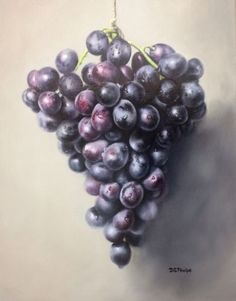 How to paint grapes and the importance of hard and soft edges to bring drama to your still life painting.