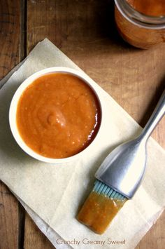 Grilled Peach and Sriracha BBQ Sauce and a Giveaway! from CrunchyCreamySweet.com #BHGSummer