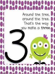 Number Formation Poem Posters & Printing Booklet