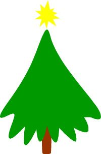 Christmas tree graphic with star
