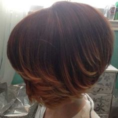 Short ombre bob hair - If you have dark colored hair, then you can try the ombre hair color on it. It will give you a unique and trendy look.