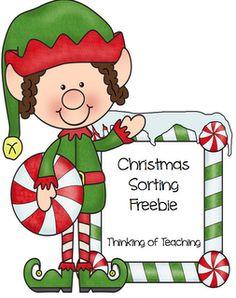 goodi, christma activ, therapi idea, speech therapi, christmas style, math sort, school idea, classroom freebi, sorting activities