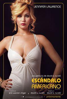 Póster de Jennifer Lawrence en Escándalo Americano