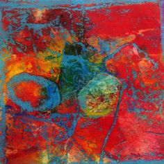 Encaustic Collage | Eco dyed fabric and paper, encaustic treatment