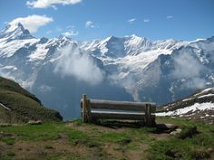 Grindelwald Switserland, so beautiful! bench