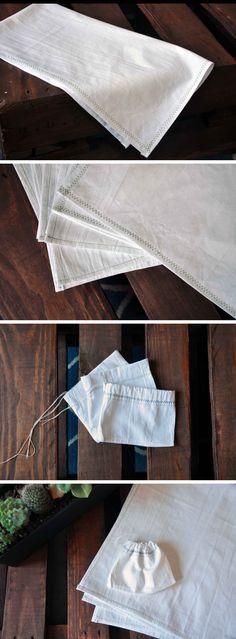 DIY tea towels and gift bags