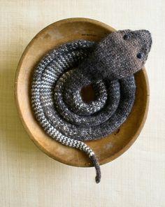 Free knitting pattern:  Snake