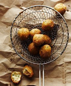 Hush puppies from Georgia-born chef Cary Taylor of the Southern in Chicago, Illinois. I'll take six, please.