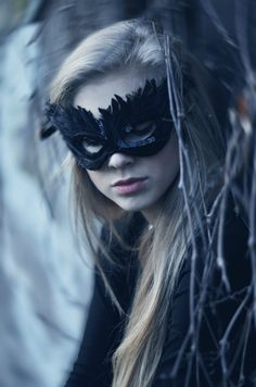 Another black masquerade mask.