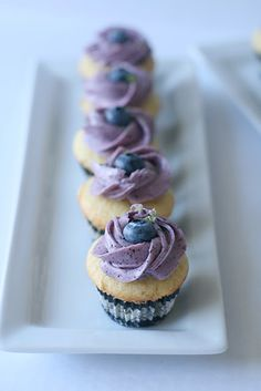 Blueberry Lime Cupcakes #food #yummy #delicious