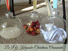 DIY Keepsake Christmas Ornaments! Make your own in less than 10 minutes!