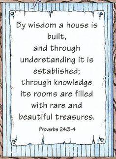 Proverbs 24:3,4
