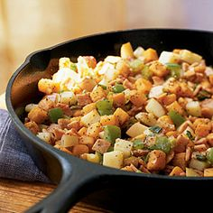 Sweet Potato and Canadian Bacon Hash | CookingLight.com