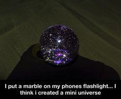 Creating a mini universe..