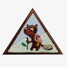 Brownie Hiker Badge. Badge requirements available in The Girl's Guide to Girl Scouting. $1.50.