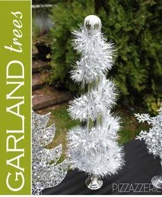 Easiest DIY GARLAND TREE! #diy #christmas