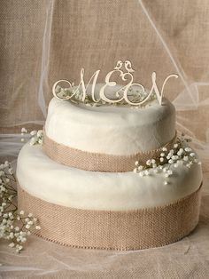 Rustic Cake Topper Wood Cake Topper Monogram by 4LOVEPolkaDots, $20.00
