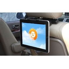 Samsung Galaxy Tab 3 10.1 Robust 360 Degree Adjustable Headrest Swivel Mount w/ Cradle Car Kit Holder