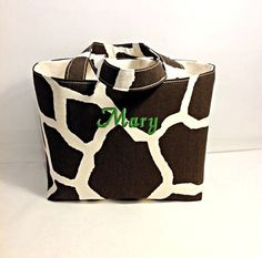 Organizer Basket Extra Large Tote Bag Fabric by RidgeTopEmbroidery, $24.00