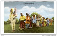 Cherokee Indian Dance In The Great Smoky Mountains National Park, Tennessee, 1900-1910s