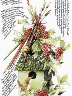 marjolien bastin, christma favorit, christma help, marjbastian, marjolein bastin, merri christma, holiday birdhous, illustr, art etc2
