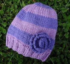 Very Violet Newborn Hat | AllFreeKnitting.com