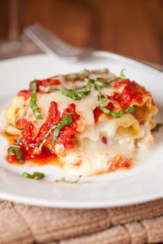 Caprese Lasagna Roll Up