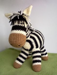No Pattern. Crocheted Zebra.