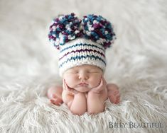 pom poms, cutest babies, knitting patterns, crochet hats, knitted hats, hat patterns, snow bunnies, baby hats, beanie hats