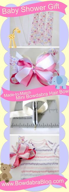 Made to match Bowdabra hair bow and onesie