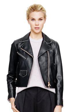 Verushka Leather Jacket   #ClubMonaco