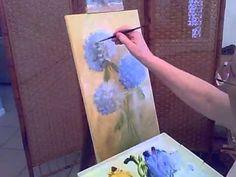 How to paint Hydrangeas-Part1.avi
