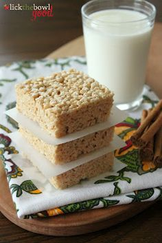 Browned Butter Cinnamon Spice Rice Krispie Treats