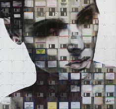 Floppy Disks Art by Nick Gentry