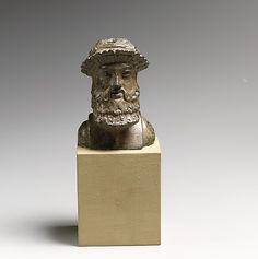 Bronze herm  Period:     Imperial Date:     1st–2nd century A.D. Culture:     Roman Medium:     Bronze