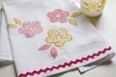 how to applique a tea towel (diy craft project)