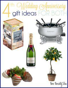 4th wedding anniversary gift ideas-fruit/flower theme