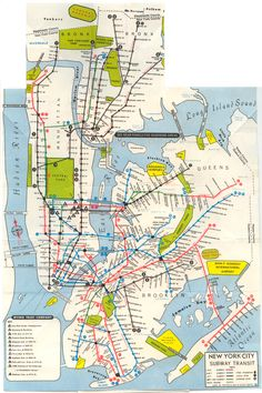 1968 NYC System Map