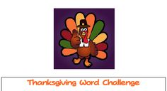 "FREE LANGUAGE ARTS LESSON - ""Thanksgiving Word Challenge"" - Go to The Best of Teacher Entrepreneurs for this and hundreds of free lessons.   #FreeLesson  #LanguageArts  #Thanksgiving  http://www.thebestofteacherentrepreneurs.net/2013/10/free-language-arts-lesson-thanksgiving.html"