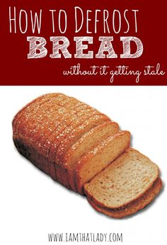 Want an easy way to defrost bread? The issue is it can get stale! Here is my secret tip to keep the bread from getting stale.