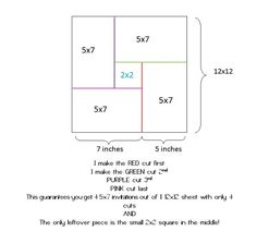 How to cut a 12x12 sheet into 4-5x7's. Good to know! #trick