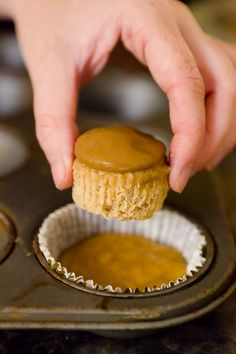 Double Fall Cupcake by cupcakeproject: Apple Cobbler inside ofo Pumpkin Maple Rum.
