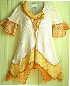Butterscotch Cotton Tunic by brendaabdullah, via Flickr