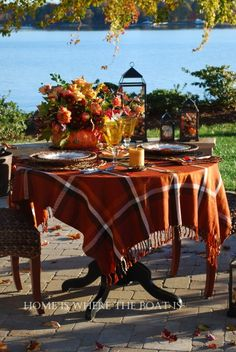 Fall Table from the Home Is Where the Boat Is site