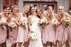 Peach bridesmaids