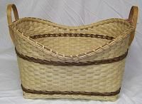 Gina's Baskets -- Arrow laundry. Love the edge shape.